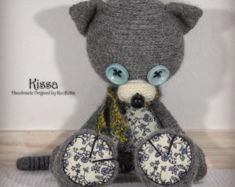 Kissa- Original Handmade Teddy/Cat/Kitten/Toy/Collectable/Gift/Charm