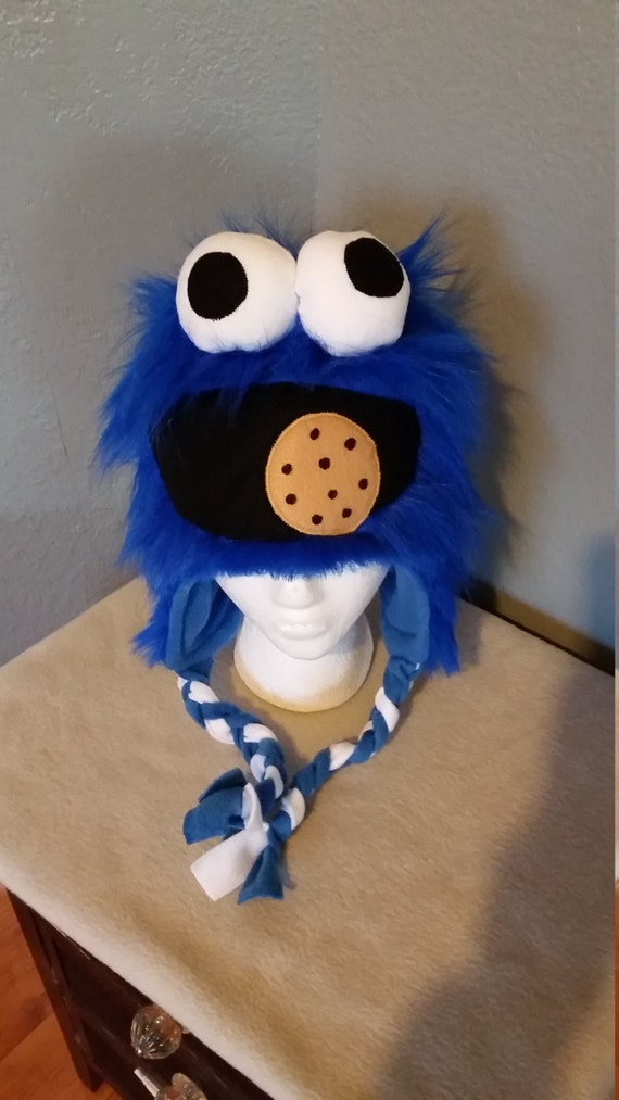 21a09b2b0b12a Cookie Monster Inspired Hat  Cookie Monster Handmade Child and