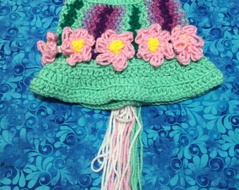 Baby Size - Adorable Flower Crochet Hat