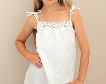 handmade linen dresses, white linen dresses, girls linen dresses, linen dresses for girls, summer linen dress, kids dresses, girls clothing
