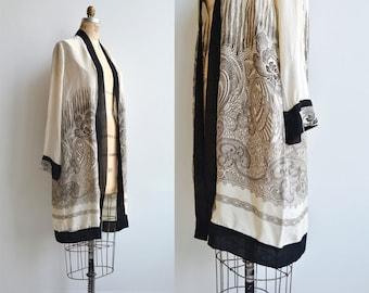Takusai silk wrapper | 1920s silk wrapper | vintage 20s robe