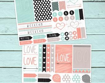 Planner Stickers, Happy Planner Stickers, ERIN CONDREN LIFEPLANNERTM Planner Stickers, Love A, Laser Printer