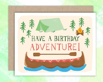 Have a Birthday Adventure. Birthday Card. 1pc