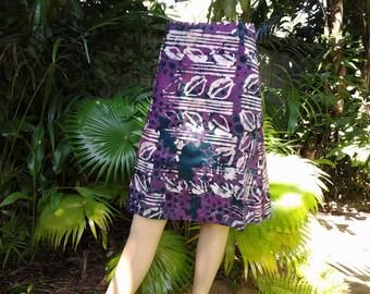 Cotton Skirt 07 A-Line Ghana Printed Fabric
