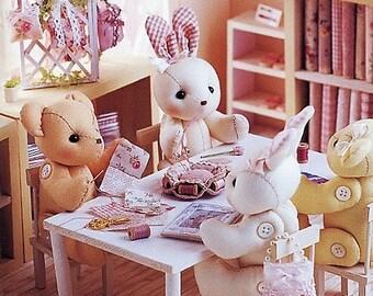 Sewing Pattern - Bunnies and Teddies TEA PARTY - Stuffed Toys Plushie Amigurumi