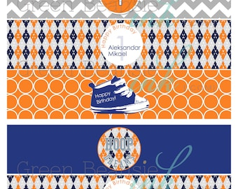 MODERN BASKETBALL Printable Drink Wraps