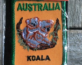 Australia Koala Vintage Travel Souvenir Patch By Perfection Souvenirs from New South Wales