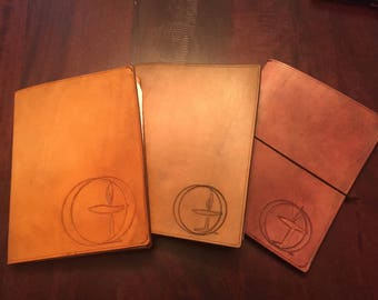 Unitarian Universalist Symbol Leather Notebook Cover