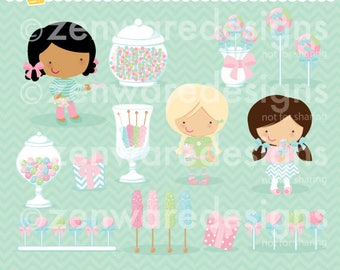 Pink Candy Buffet Clipart