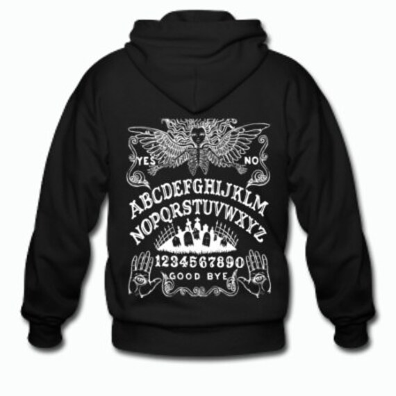 Ouija Board Angel of Death Zippered Hoodie