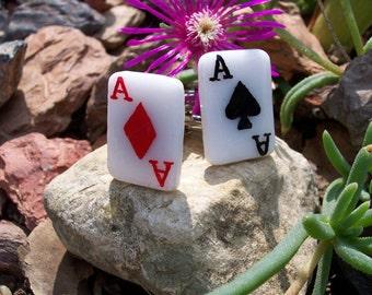 Lucky Card Cuff Links