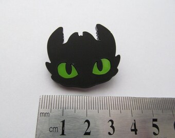Laser cut Toothless pin badge