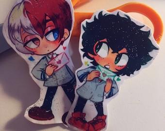 Todoroki and Midoriya Matching Stickers
