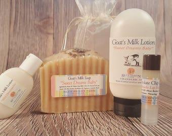 Goat Milk Soap Gift Set, Goat Milk Lotion Gift Set, Bath Gift For Her, Choose your Scent!