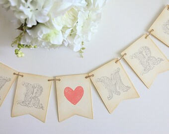 Mr. and Mrs. Banner / Wedding / Signage / Photo Prop / Reception / Decor / Vintage / Shabby Chic