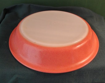 "Vintage Pyrex Pink Dawn Speckled Glass Pie Plate Made In USA, 9 1/2"" # 209"