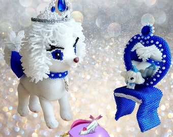 "Pattern / Tutorial Beaded Ornament - Master-class ""Pamkin the Dog»"