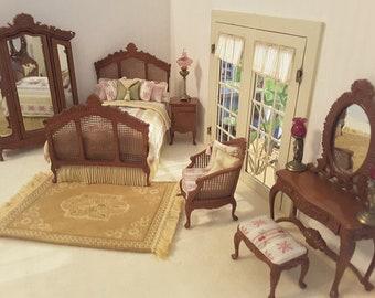 Miniature Dollhouse 6 Piece Bedroom Set