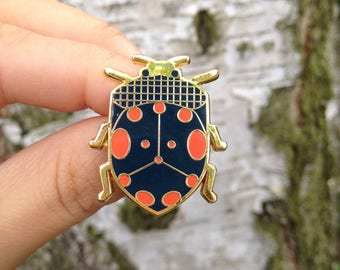 Beetle // Bug enamel pin // insect enamel pin // Hard Enamel // Badge // Brooch