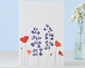 Lupines And Poppies Card