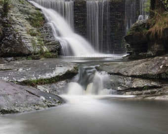 Waterfall Landscape Digital Photo