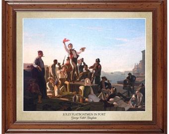 Statement Clutch - The Jolly Flatboatmen by VIDA VIDA s0rMA
