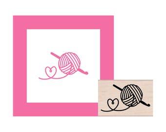 Crochet Love Rubber Stamp