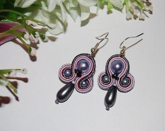 Soutache earrings, soutache earrings, dangling earrings