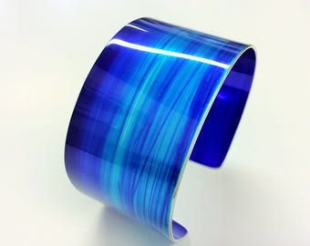 Azure 30 mm Anodised Aluminium Cuff