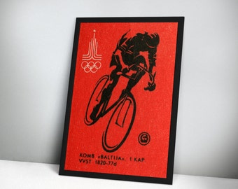 1980 Moscow Olympics – Cycling Print