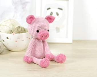 PATTERN: Pig - Amigurumi piglet crochet pattern and tutorial (EN-081)