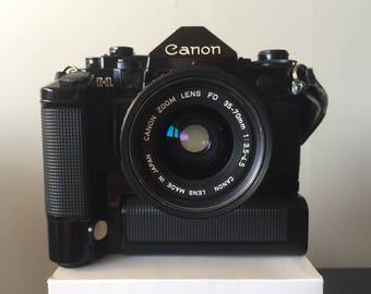 Canon A-1 35mm SLR Camera w/ Motordrive