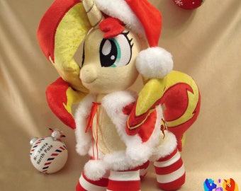 Sunset Shimmer custom handmade My Little Pony plushie Christmas MLP