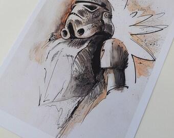 Stormtrooper, TK-421, Empire, Star Wars, Star Wars Trylogy, Rogue One, Graphic, Art Print, Digital Print, A4, 21x29,7