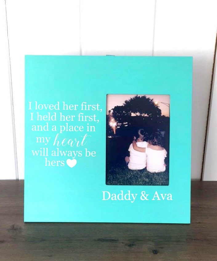 New Dad Gift, Picture Frame for Dads, Father Daughter Picture Frame ...