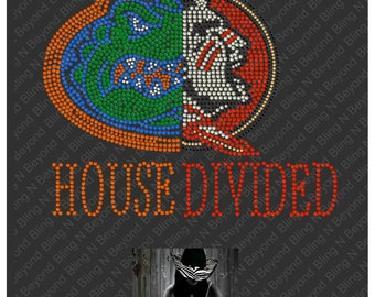 Custom House Divided Shirts.. You give us the logos and we make the bling - Gators - Florida State