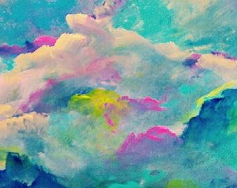 Original Papier abstrakte Acrylbild Drucken Giclee print moderne Kunst Druck Malerei Acryl Kunst Fine Art Papier Wand Kunstdruck