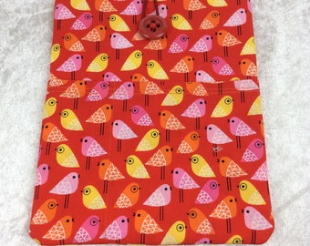Birds Tablet Case Cover Pouch iPad Kindle Small Kokeshi
