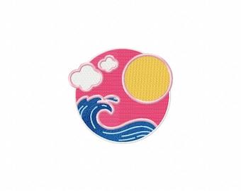Machine Embroidery Design - Summer Waves Beach