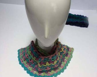 Colorful cowls, neckwear, accessories, crochet cowls