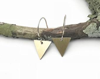 Lil bunting earrings / brass