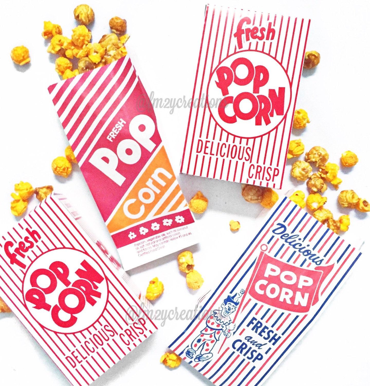 POPCORN BAGS50 Retro Vintage Popcorn Bags Favor: Circus