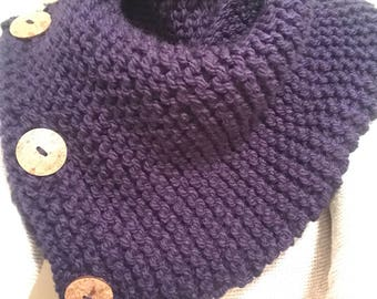 Knitted Button Scarf
