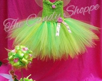Tinkerbell Costume, Tinkerbell Tutu Dress