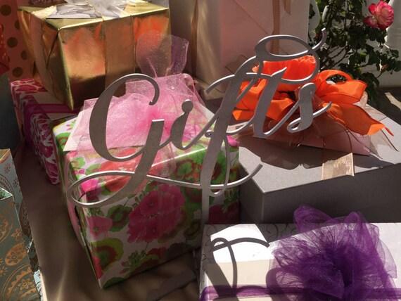 Gift Signage, Wooden Signage, Wedding Sign, Bridal Shower Sign, Baby Shower Signage, Presents Sign, Laser Cut Gift Sign, Gold Wedding