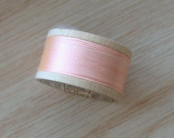 Vintage Pure Silk Buttonhole Twist Thread Spool 10 yards Size D Shade 2030