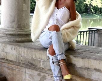 Cozy Cardigan, Oversized Cardigan, Chunky Knit Cardigan, Cream Cardigan, Oversized Sweater, Cozy Sweater, Fluffy Cardigan,