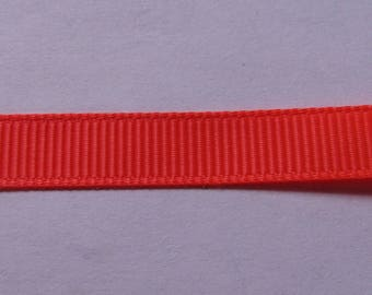 Ribbon grosgrain orange neon 10mm wide