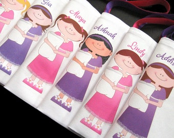 Sleepover party favors, sleepover birthday, girls sleepover, sleepover bags, slumber party, girls party themed favors personalized for girls