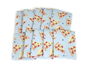 Set of 20 Matchbook Notepads   Match Books Mini Note Pads in Pizza Party